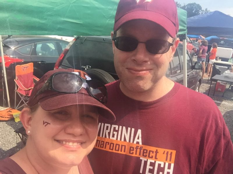 Cheering On Virginia Tech
