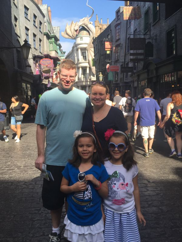 At Universal with Our Friends' Daughters