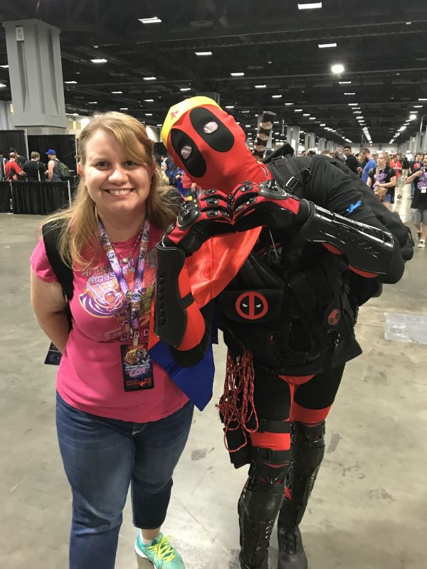 Meeting Deadpool at AwesomeCon