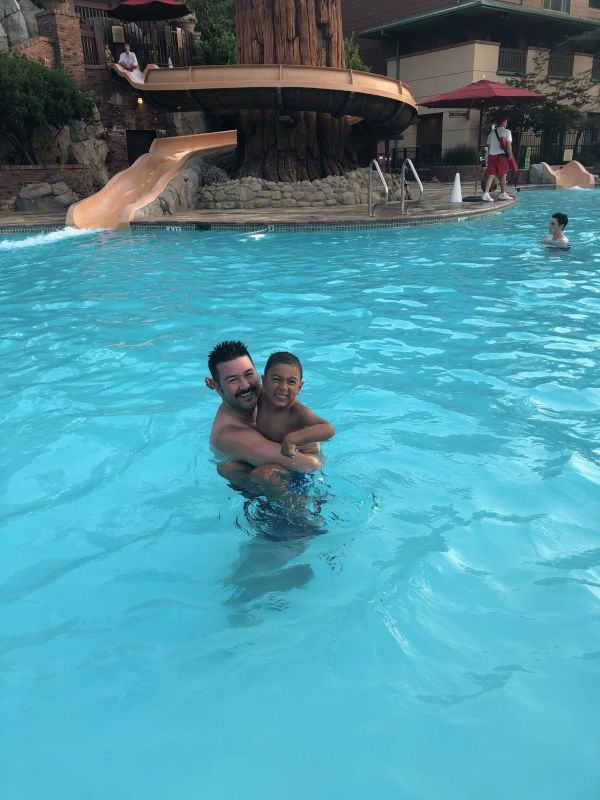 Fun in the Pool With Our Nephew