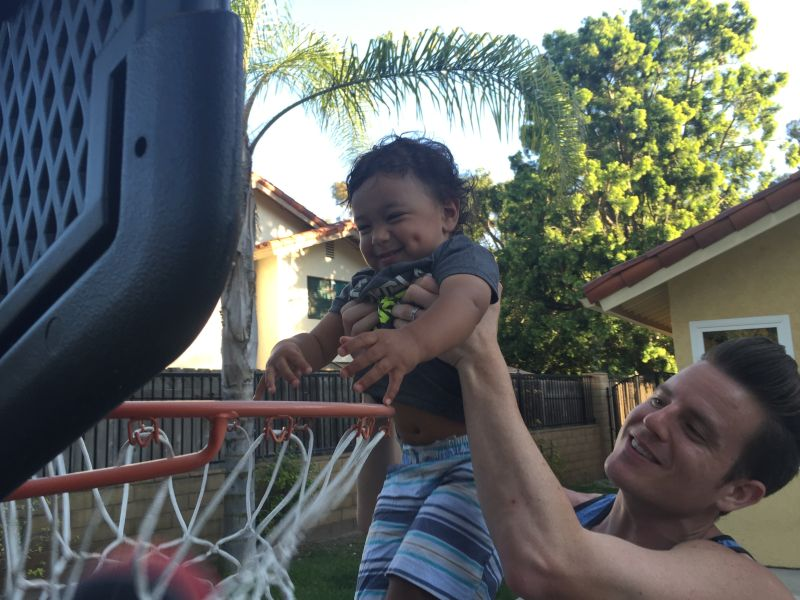 Michael R. Playing Basketball With Our Nephew