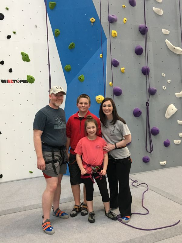 Rock Climbing with Our Niece & Nephew