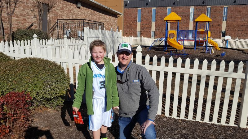 With Our Nephew After a Ballgame