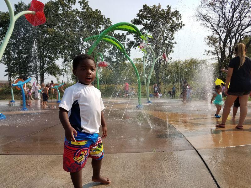 Isaac at the Local Splash Pad