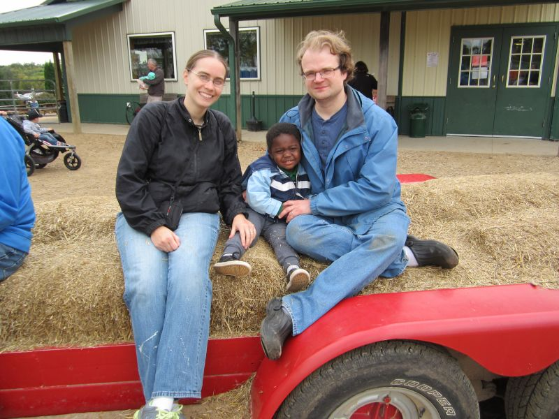 Hay Ride at the Apple Orchard