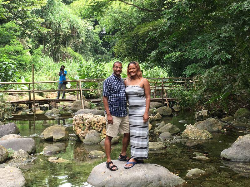Exploring a Nature Garden in Jamaica