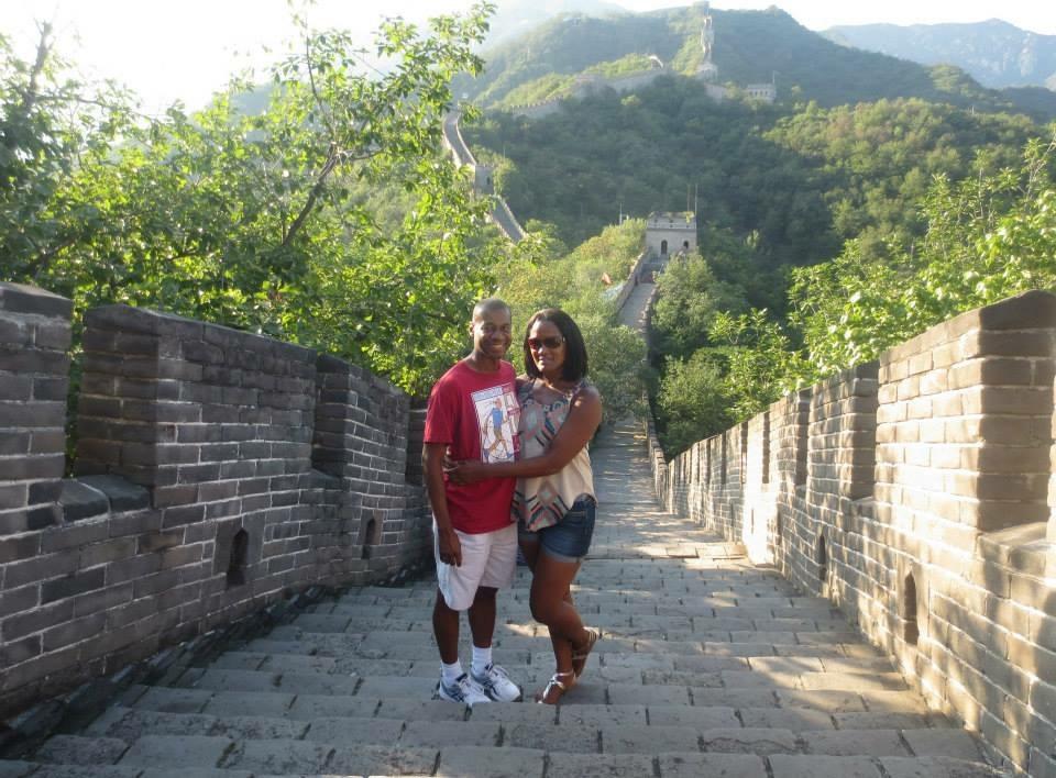 Climbing the Great Wall of China