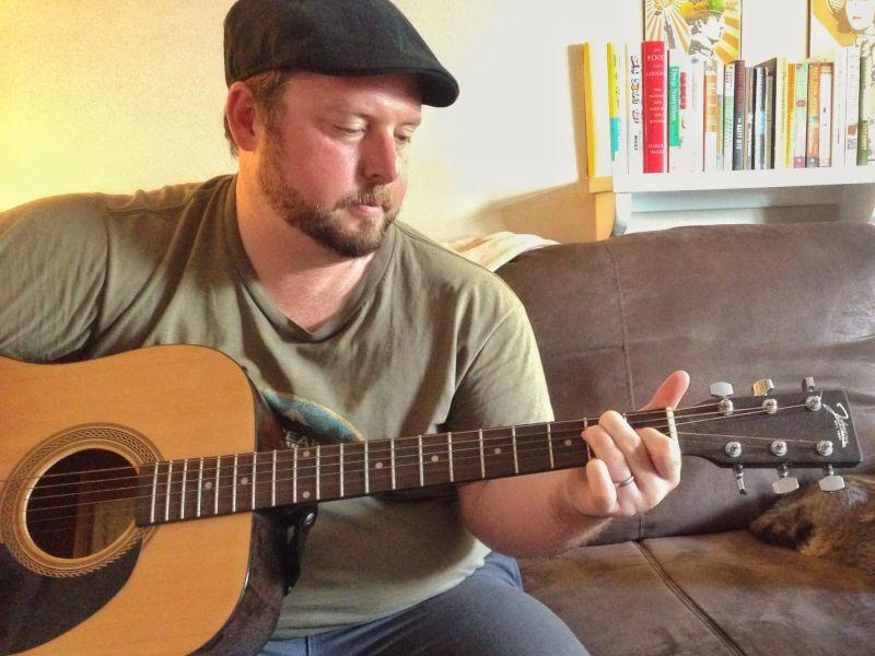 Keith Playing Guitar