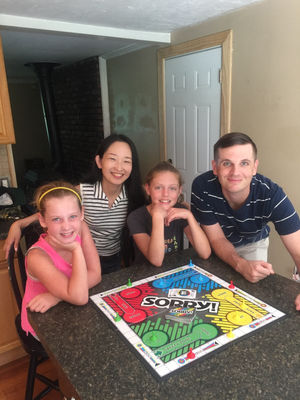 Playing Sorry with Our Friend's Daughters