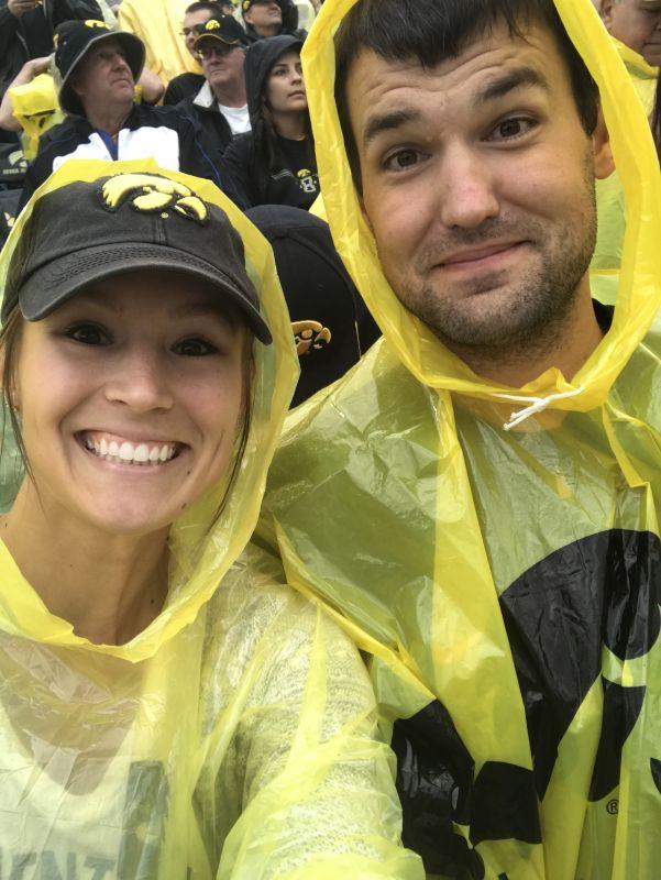 Watching a Rainy Iowa Football Game