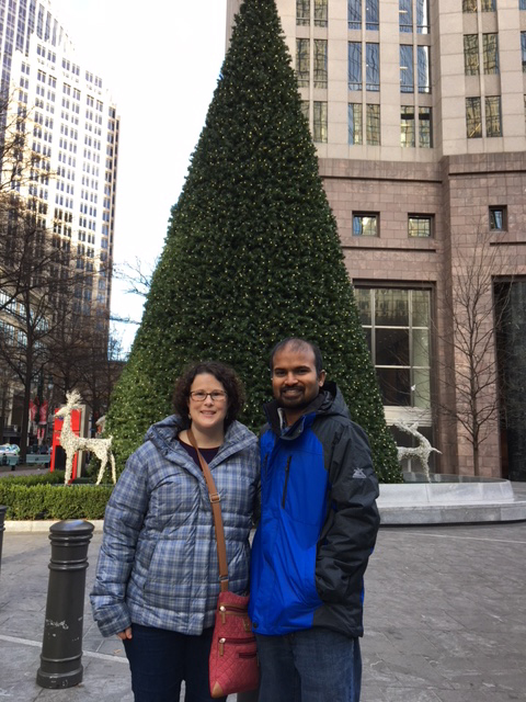 Checking Out the Downtown Christmas Tree