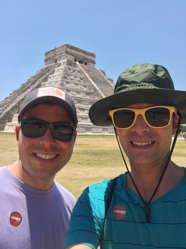 Trying to Stay Cool While Exploring Mayan Ruins