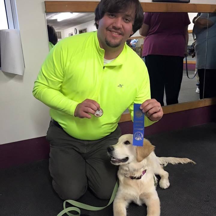 Lily and Matt Getting a Canine Good Citizen Award!