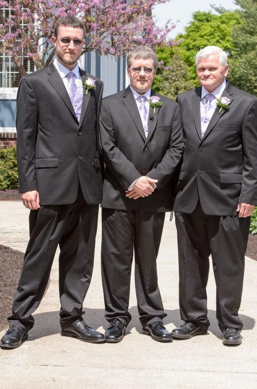 Jeremy With His Dad & Brother