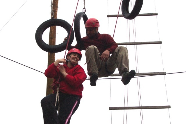 Jenna on a Ropes Course