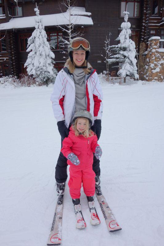 Teaching Our Niece How to Ski