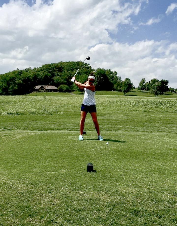 Lauren Golfing