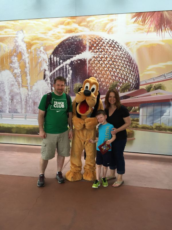 With Pluto at Disney