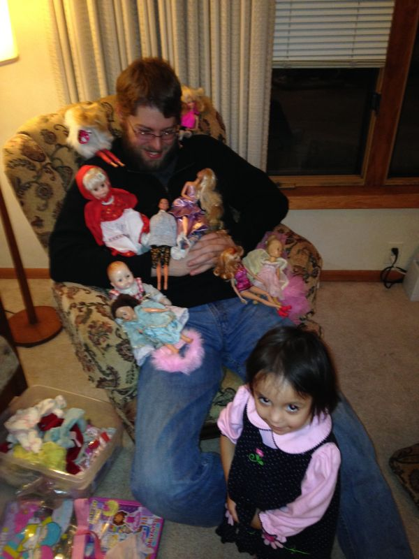 Playing Dolls With Uncle Craig