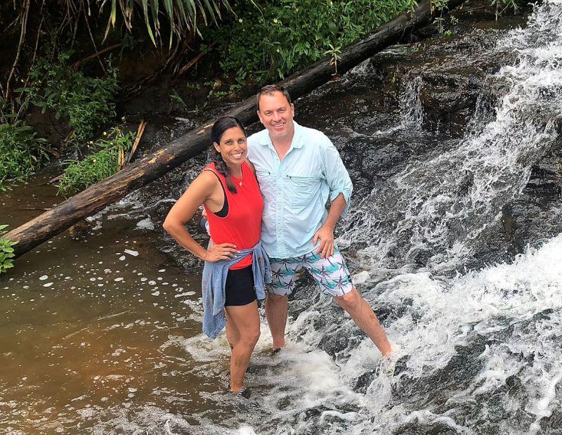 Exploring a Waterfall in Hawaii