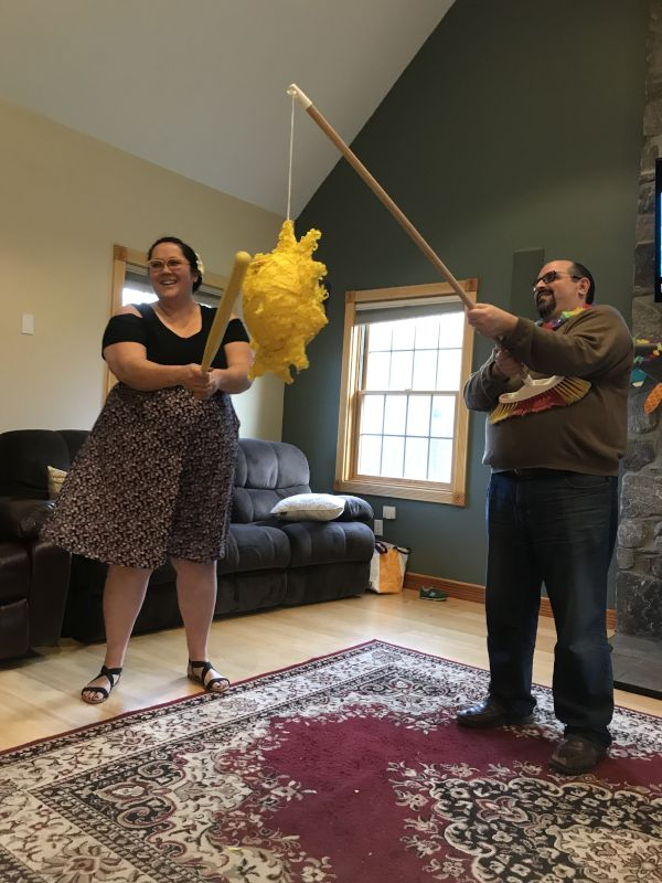 Indoor Pinata. What Could Go Wrong?
