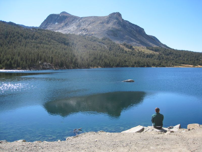 Ryan Enjoying the Beautiful View at Tioga Lake in Yosemite