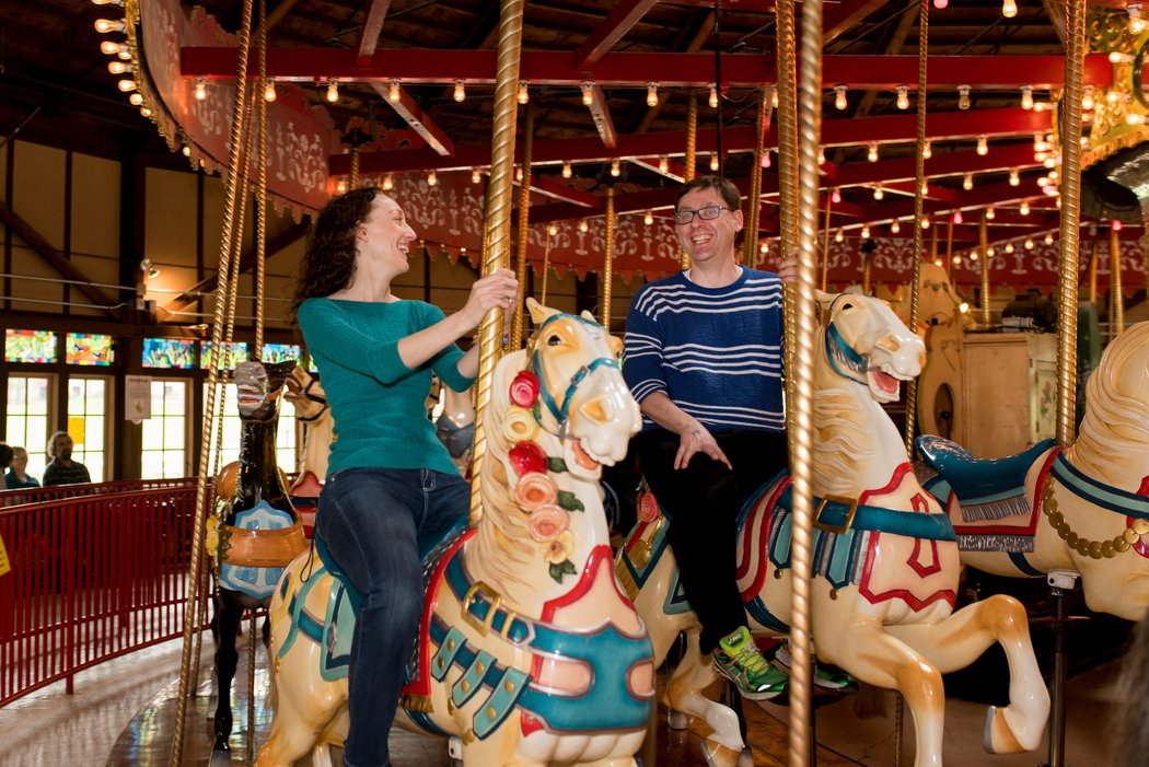 Riding the Carousel at Our Niece's First Birthday