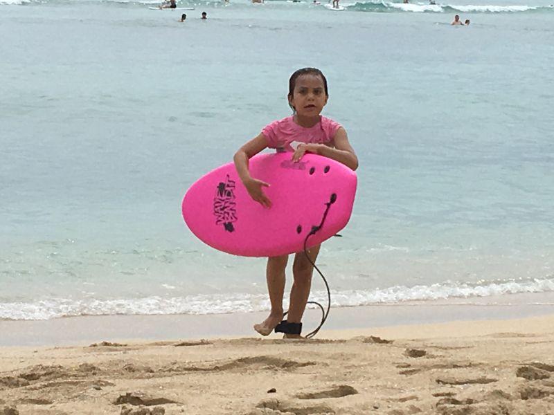 Bix After a Surf Lesson