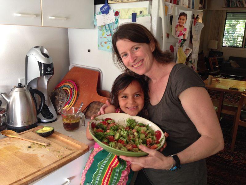 Making a Salad Together