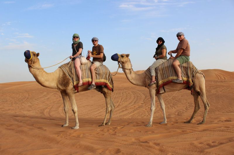 Camel Ride in the Arabian Desert