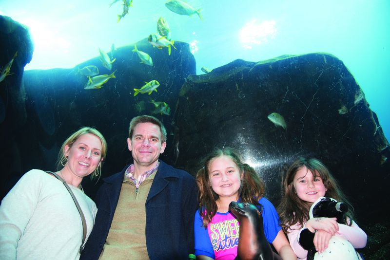 With Our Nieces at the Aquarium