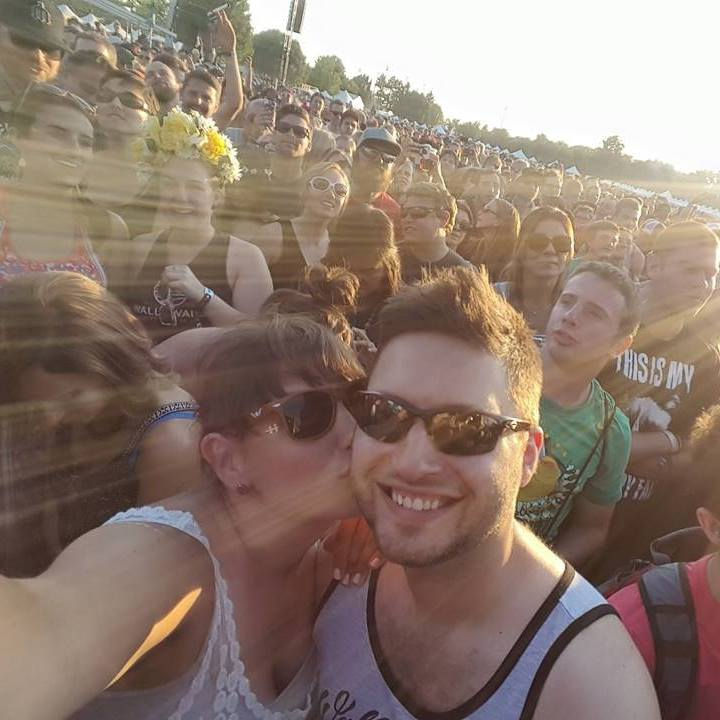 Enjoying a Music Festival with Friends