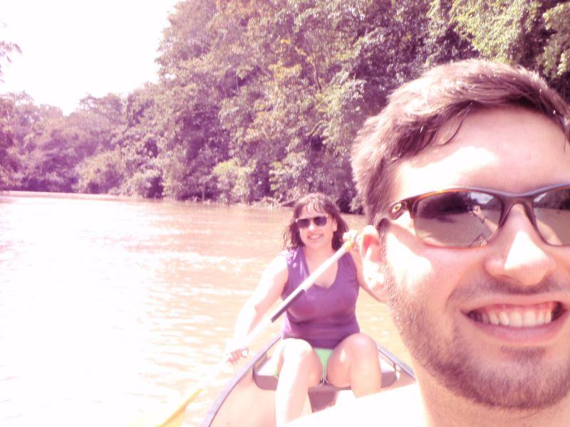 Canoeing in Belize