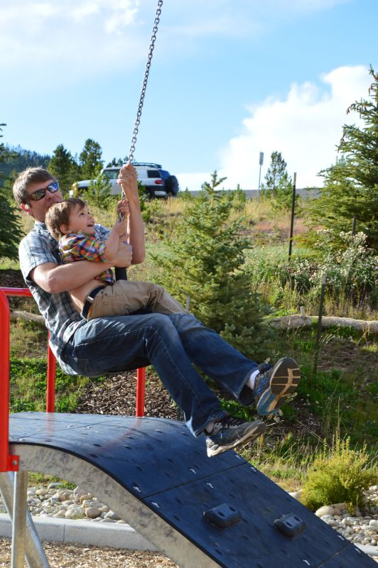 Cass & Dada on the Zipline