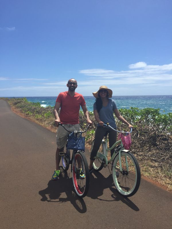A Leisurely Bike Ride Along the Ocean