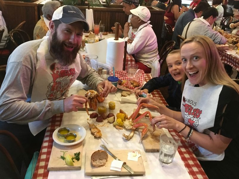 Fresh Crab Dinner in Seattle