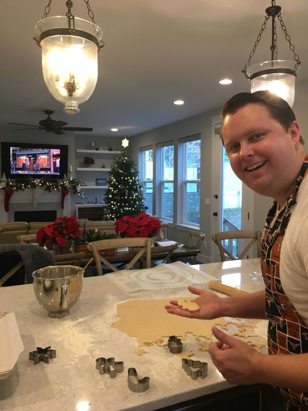 Tyler Baking Christmas Cookies at Home