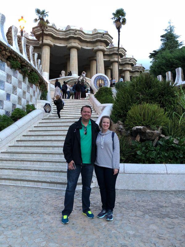 At Gaudis Park in Barcelona