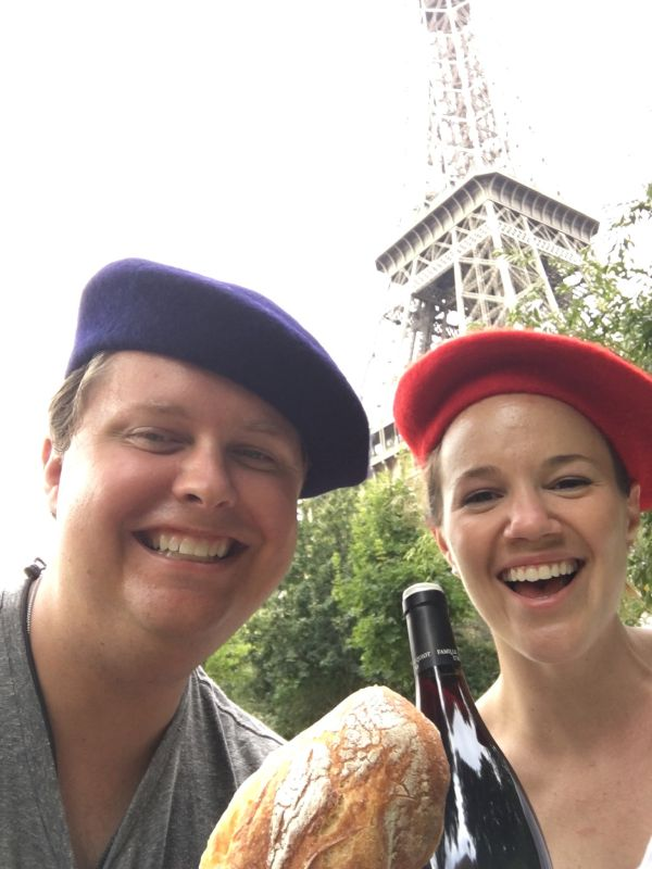 Being Goofy While on a Picnic in Paris