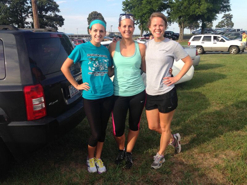 Katlyn Running a Race With Friends