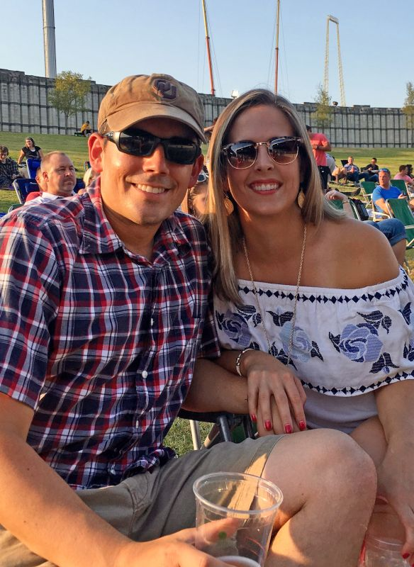 At an Outdoor Concert in Dallas