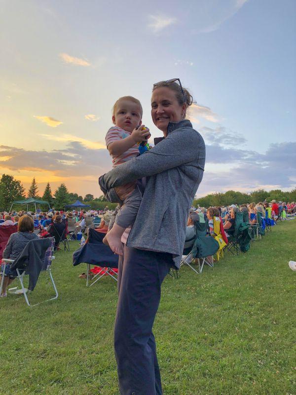 Becky and Ben at a Concert