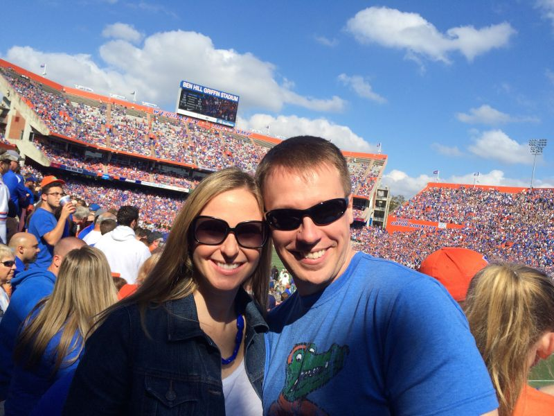 Cheering On the Florida Gators