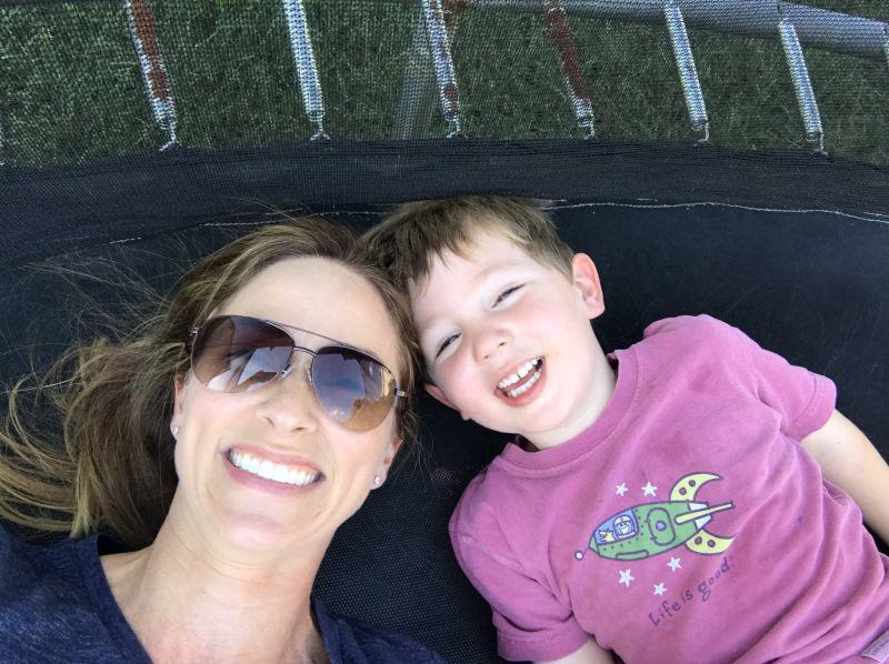 Trampoline Selfie Time