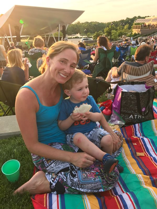 Enjoying an Outdoor Concert