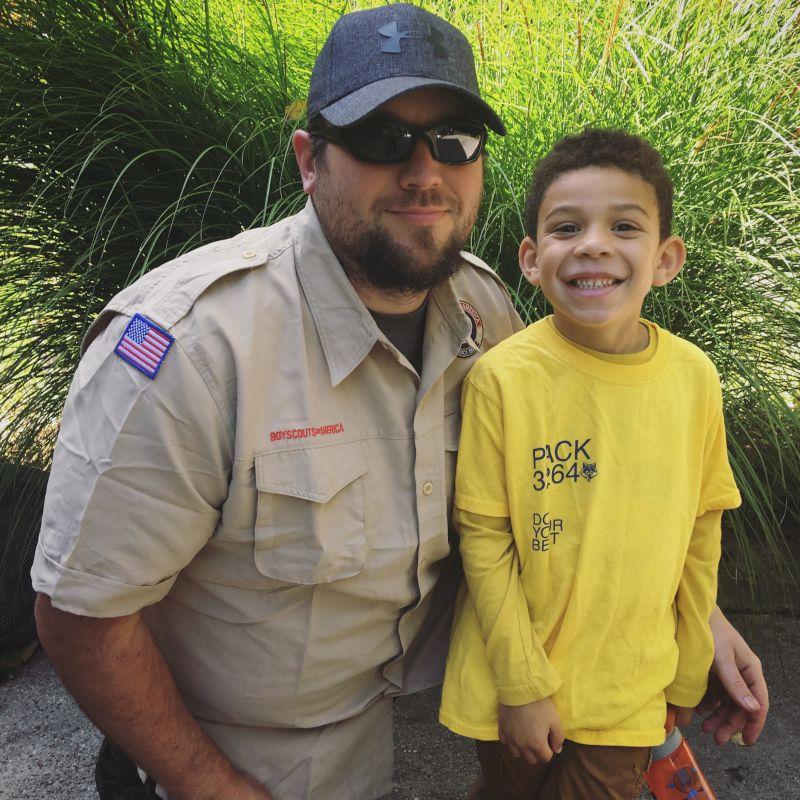 Den Leader Daddy & Cub Scout Elliott