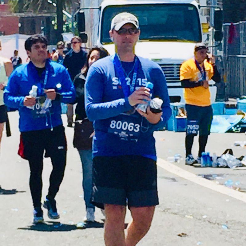 Ed After His 5th Marathon