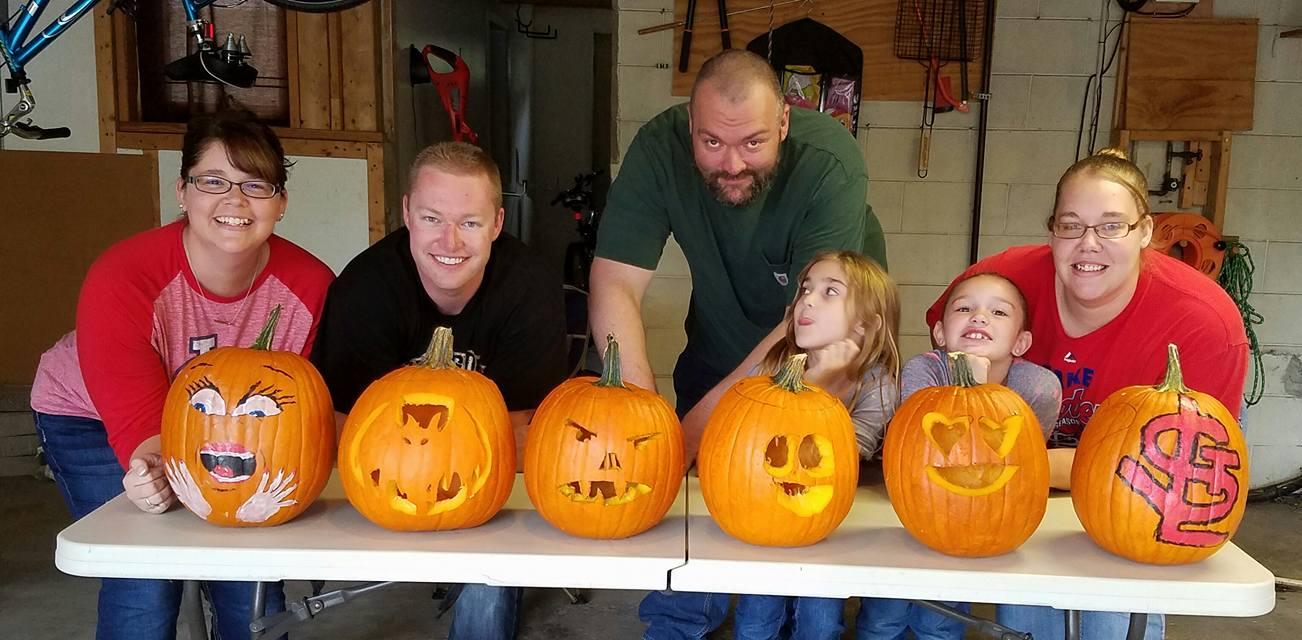 Family Pumpking Carving Fun