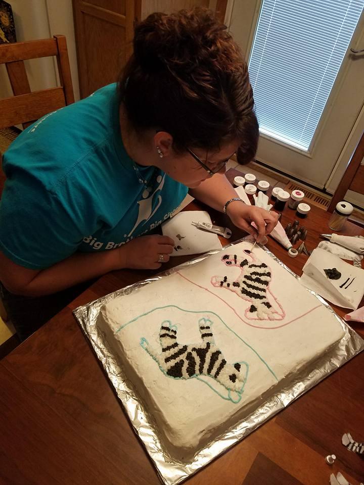 Ashley Enjoys Decorating Cakes