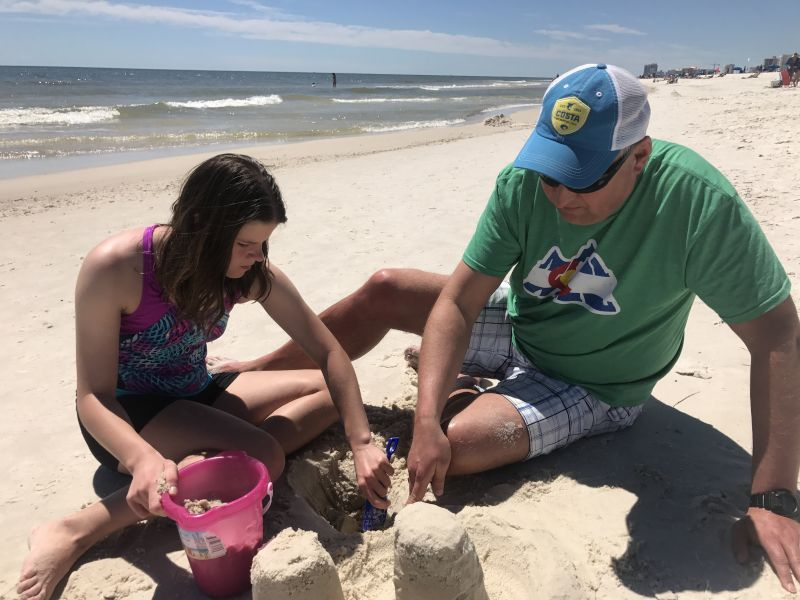 Building Sandcastles at the Beach